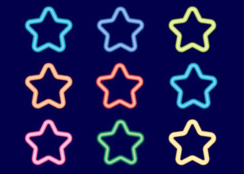 圣诞霓虹灯星