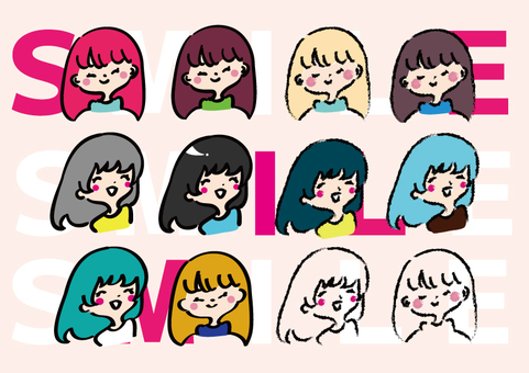 【Smile】 Character expression set