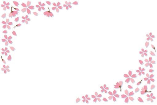 벚꽃 프레임 -2