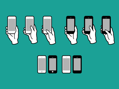 Hands and fingers with smartphones 01