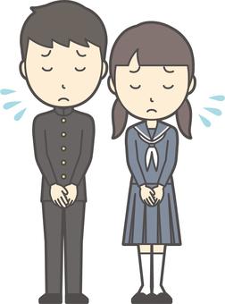 Junior high school student gender set-036-whole body