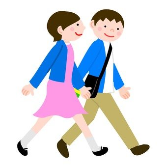 ชายและหญิง 2 ที่จะเดินเคียงข้างกัน