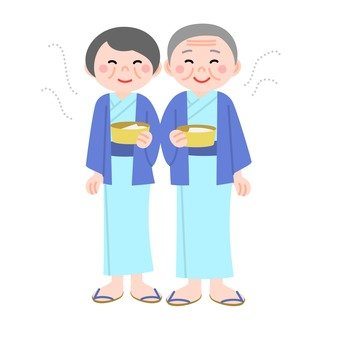 Elderly couple · hot spring hotel