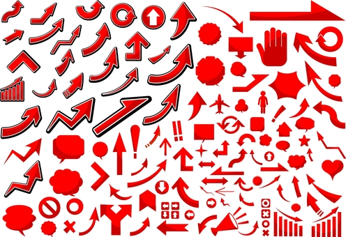 Icon set red