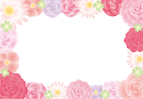 Flower assembly frame