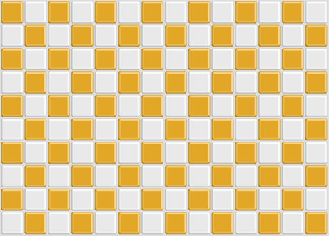 Checkered tile orange