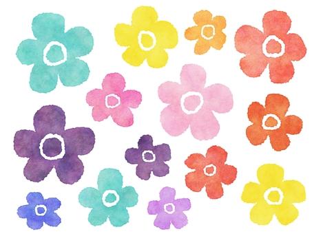 Watercolor style Northern European flowers