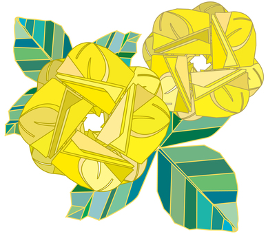 Yellow rose Father's Day Roses illustration One point