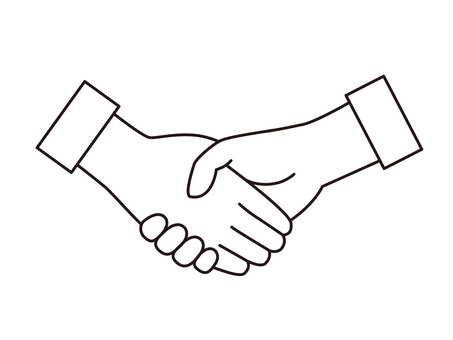 Handshake mark (line drawing)