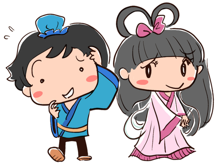 On Tanabata Day, Orihime and Hikaze seemingly embarrassed