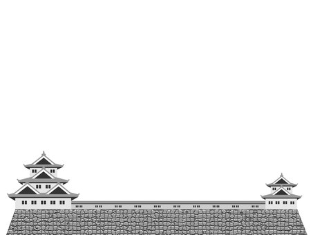 Japanese castle frame 2