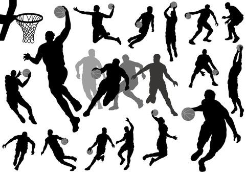 バスケットボール シルエットセット