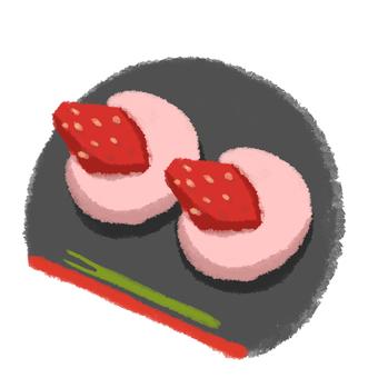 Strawberry Daifuku Obon