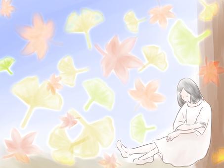 我想起秋天。
