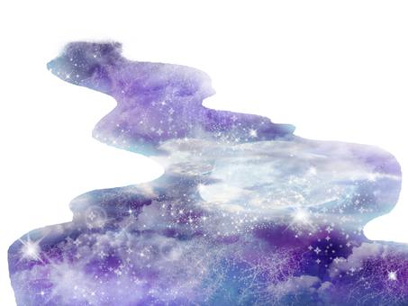 별빛이 비치는 강 은하수