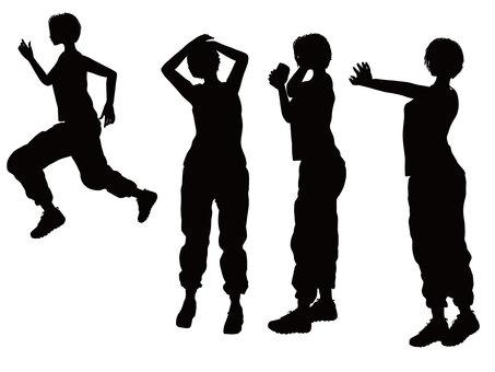 Running silhouette 2