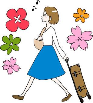 Spring traveling Spring traveling girls
