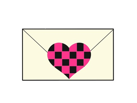 Love letter check pattern
