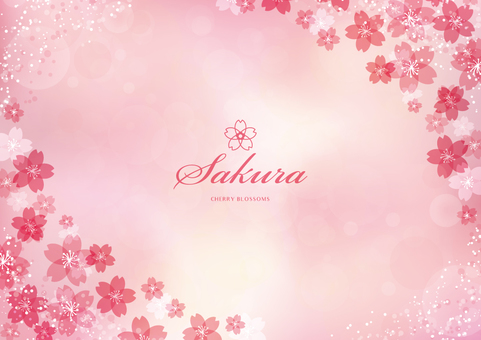 Spring background frame 003 Sakura pink