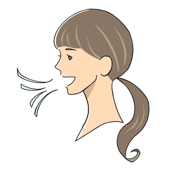 A woman with a breathy smell