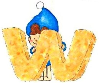 Alphabet Cookie W