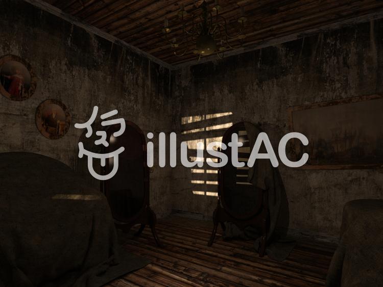 幽霊屋敷のイラスト