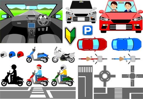 Car / Motorcycle Set