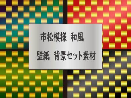 日式花紋牆紙