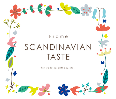 Scandinavian flower frame square