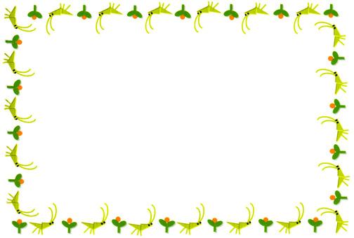 花和蚂蚱框架