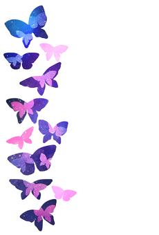 Night Sky Butterfly Postcards & Frames