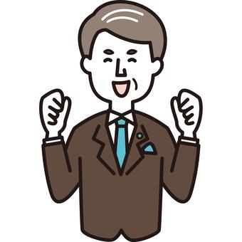 President-like male happy