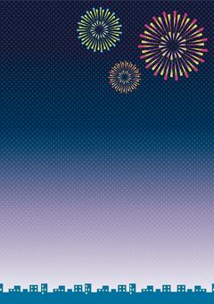 Fireworks longitudinal background material 1
