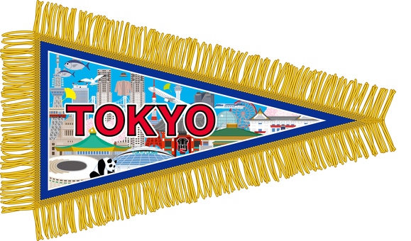 Tokyo souvenir pennant Tokyo TOKYO