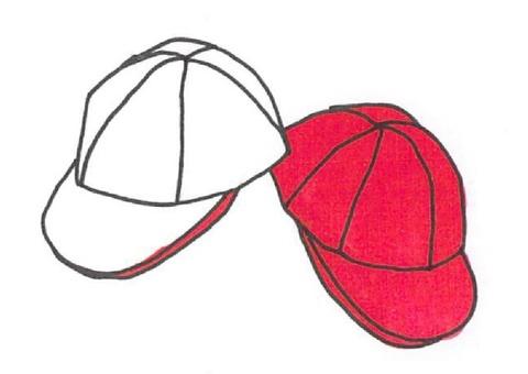 Red white cap