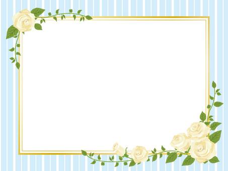 흰색 장미 액자 바람 프레임 장식 프레임 01