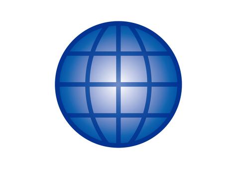 지구 네트워크 이미지 (블루)
