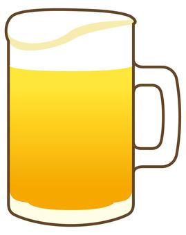 ビールジョッキ クリーミー泡