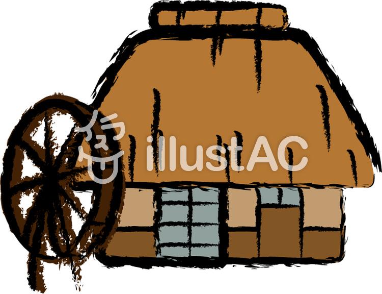 茅葺き屋根の家イラスト No 517949無料イラストならイラストac