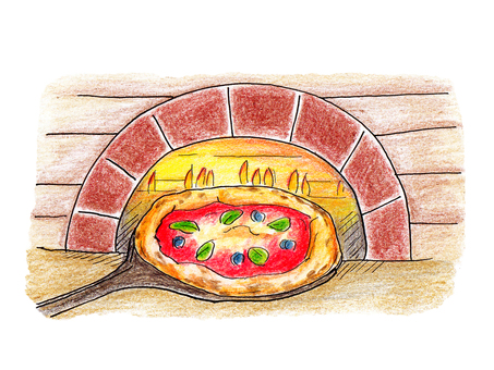 Pizza and pizza kiln
