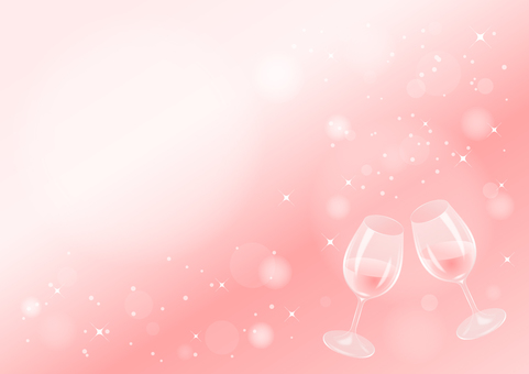 Rosé wine toast (background pink)