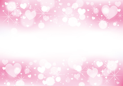 Heart pattern frame _ background material 04