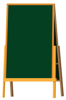 Blackboard leaning sign vector