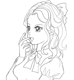 Girl (Coloring)