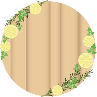 Herb and lemon frame