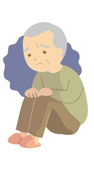 Elderly people with depression