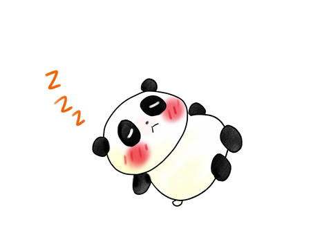 Panda sleeps