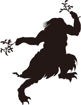 Ukiyo-e character silhouette part 116