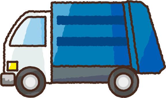 Hand-drawn garbage truck