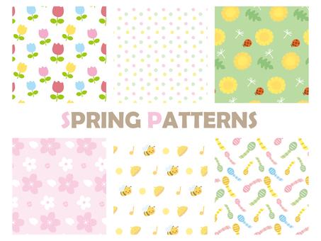 Spring pattern swatch 1